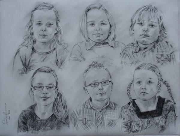 Kinderen Siberisch krijt 65x50 cm