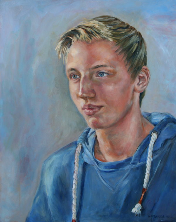 'Jonas' 2016 olieverf 40x50 cm