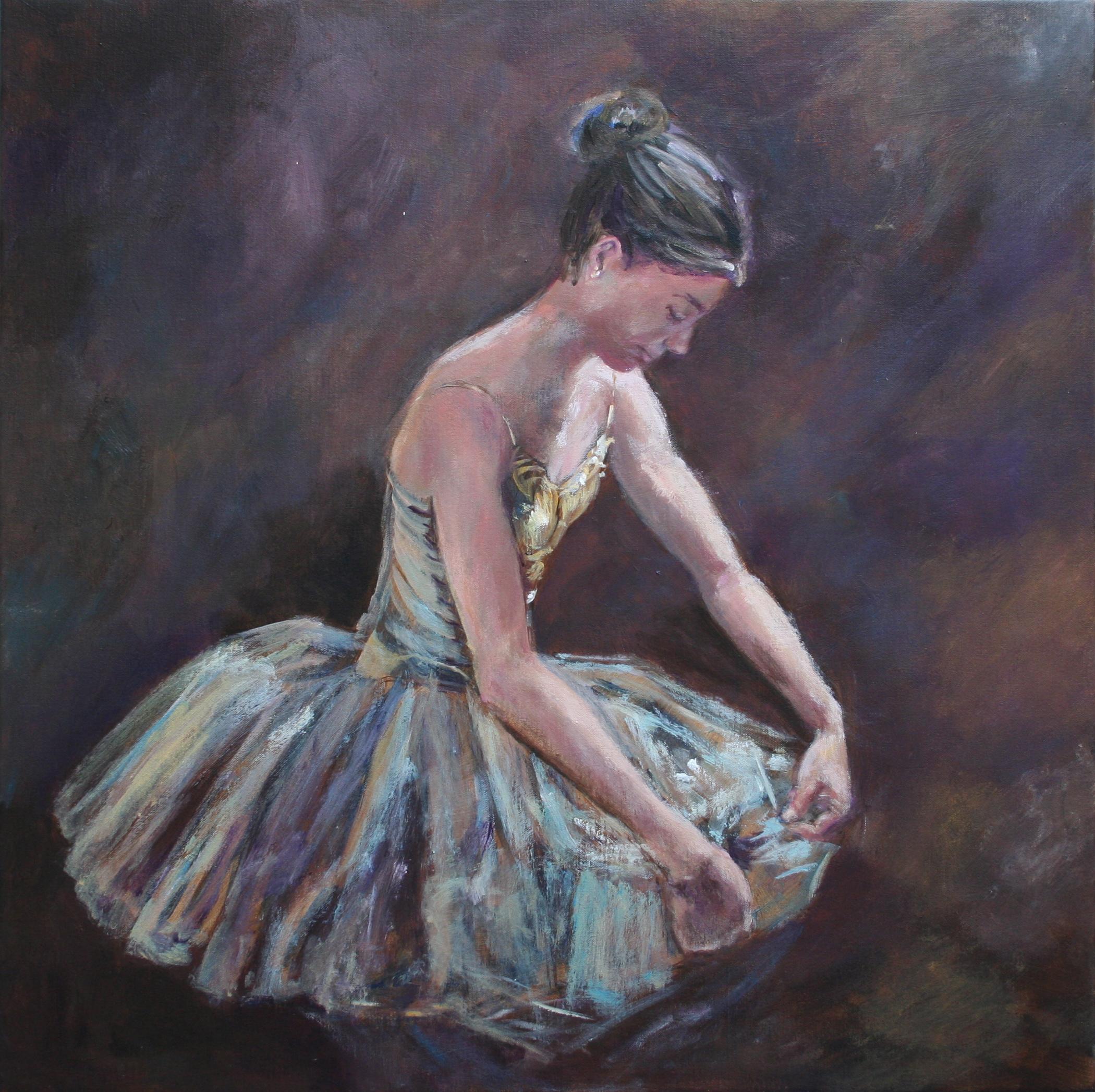 'Danseres' Acryl op linnen 60x60 cm