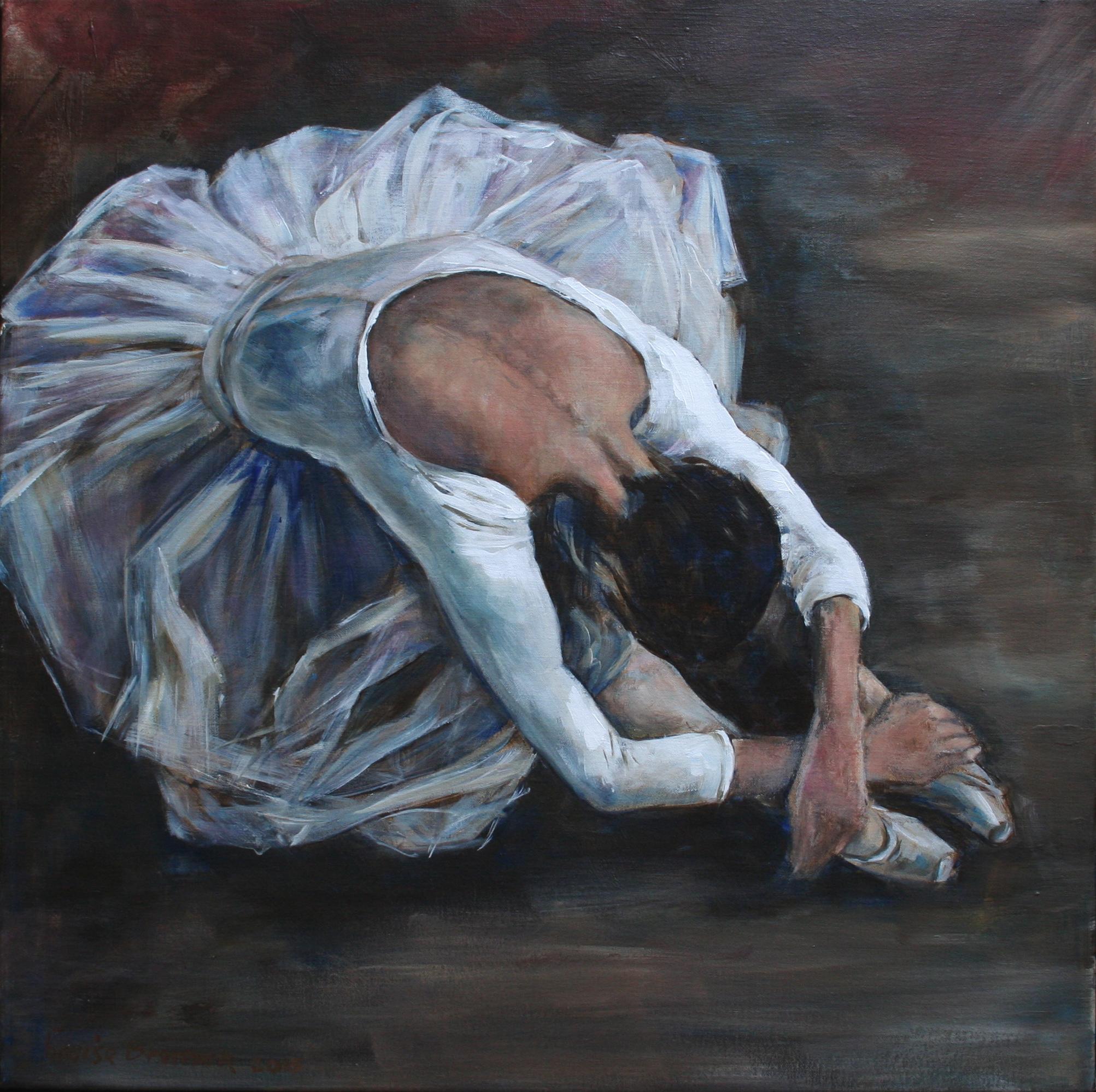 'Balletdanseres' Acryl op linnen 60x60